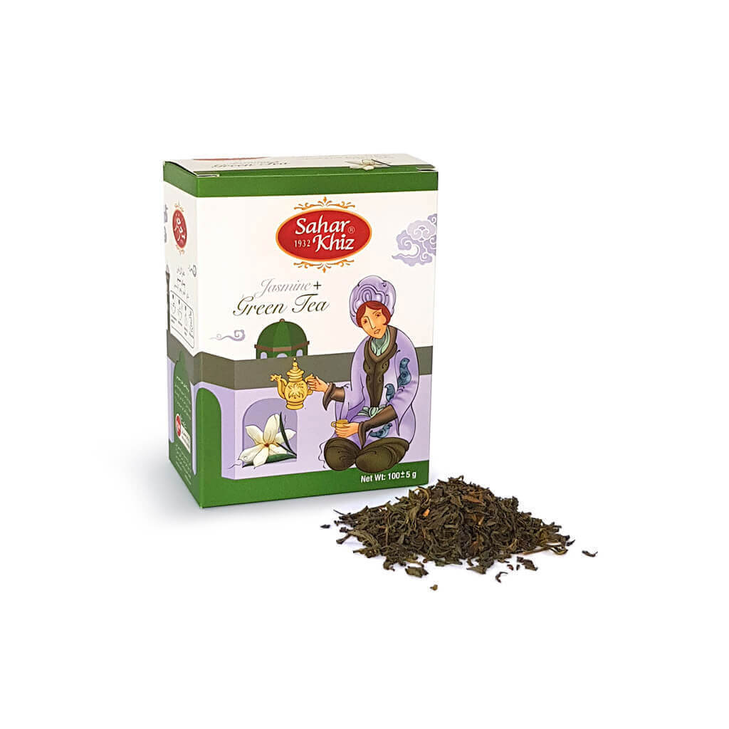 قیمت خرید اینترنتی چای سبز عطر گل یاس سحرخیز 400 گرمی فروشگاه وجیسنک قیمت عمده و خرده