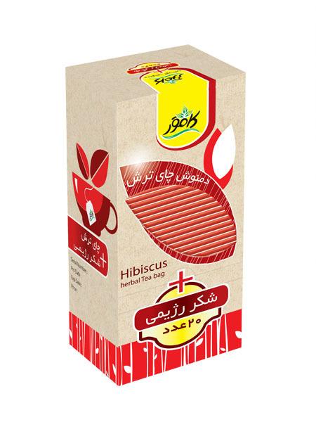 خرید آنلاین دمنوش چای ترش به همراه شکر رژیمی کامور فروشگاه اینترنتی وجیسنک محصولات رژیمی کامور بدون قند