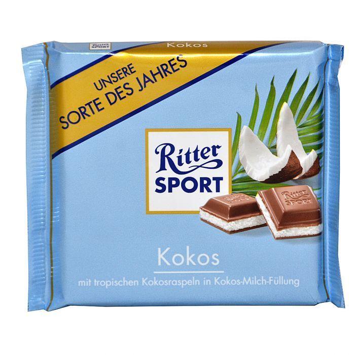 خرید اینترنتی شکلات 100 گرمی Ritter Sport مدل KOKOS شهر شکلات فروشگاه اینترنتی وجیسنک