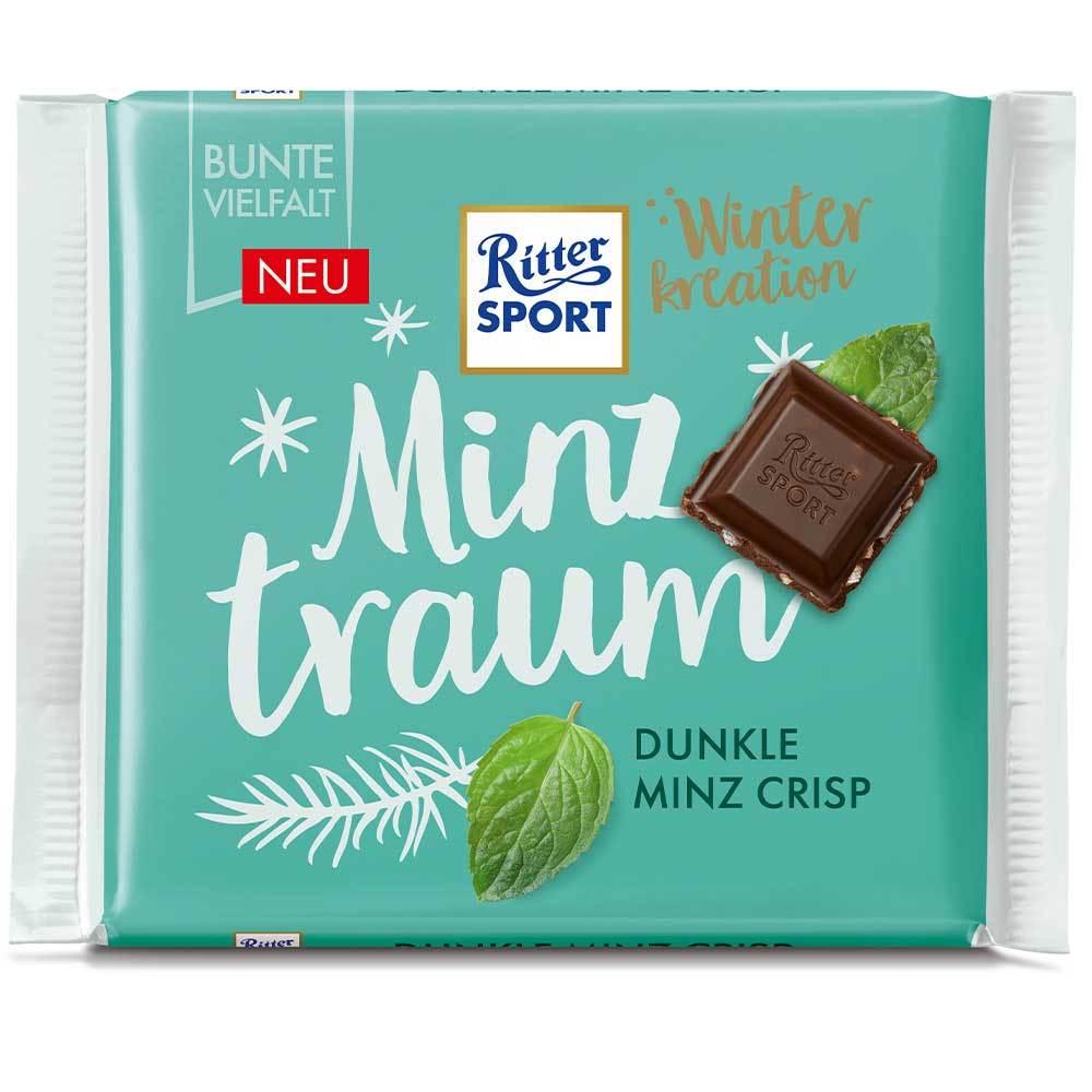 خرید اینترنتی شکلات 100 گرمی Ritter Sport مدل نعناع شهر شکلات فروشگاه اینترنتی وجیسنک