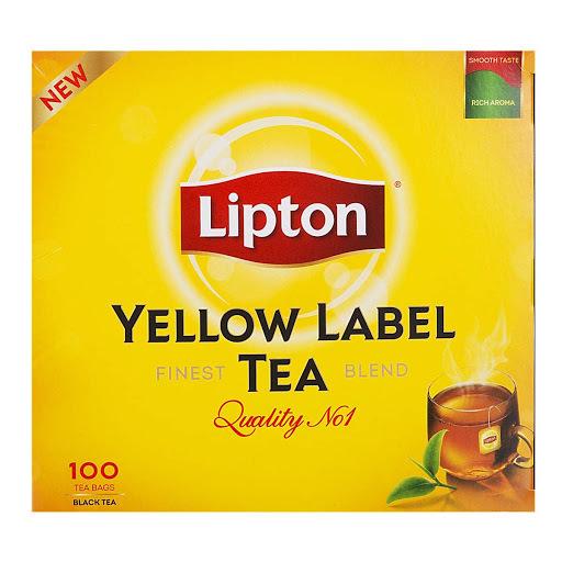 خرید آنلاین چای زرد نشان 100 عددی لیپتون فروشگاه اینترنتی وجیسنک محصولات و دمنوش های گیاهی لیپتون lipton