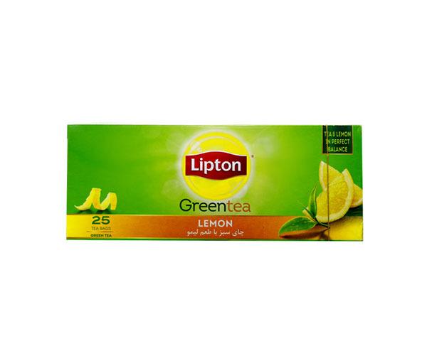 خرید آنلاین چای سبز با طعم لیمو 25 عددی لیپتون فروشگاه اینترنتی وجیسنک محصولات و دمنوش های گیاهی لیپتون lipton