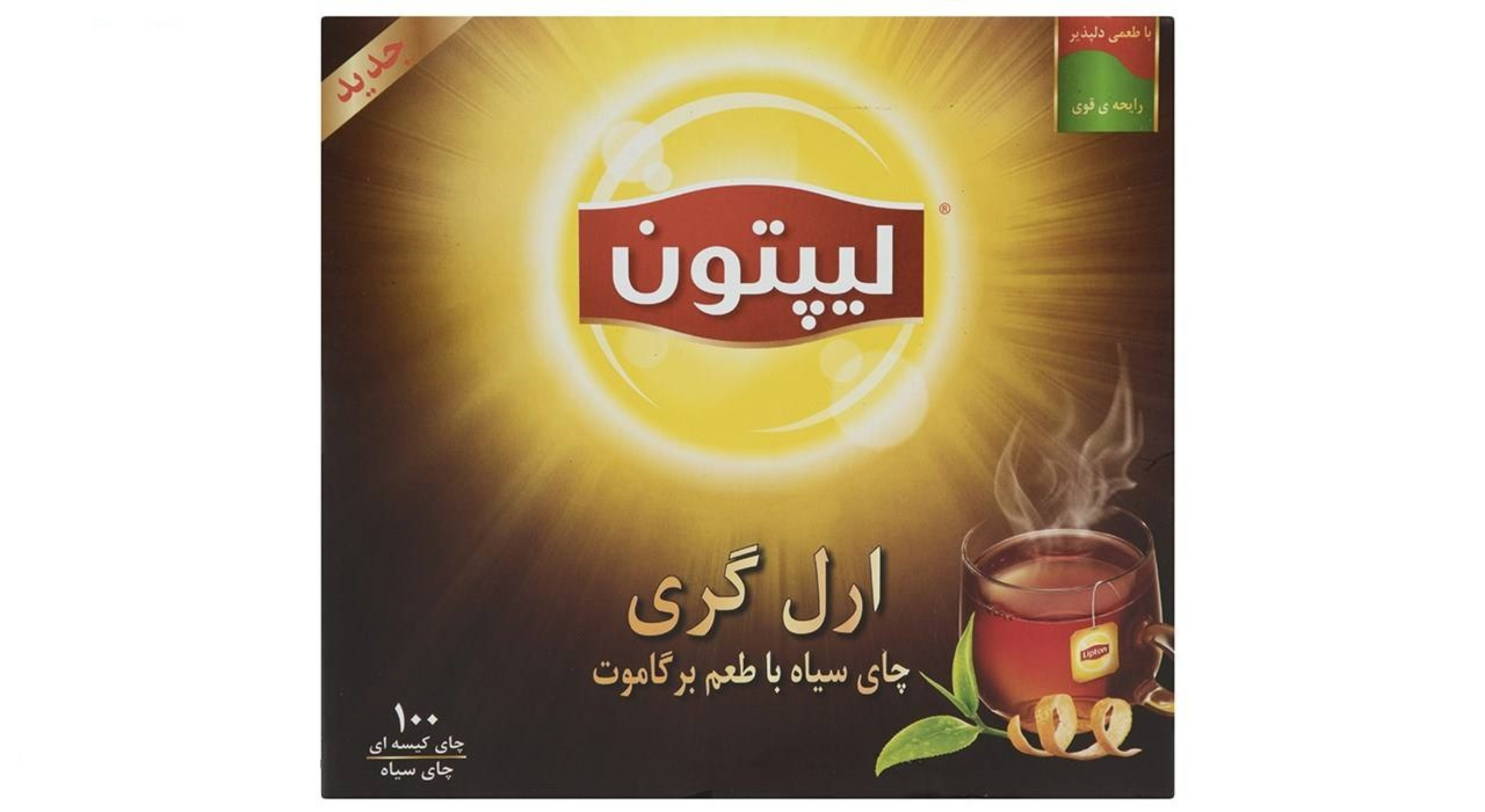 خرید آنلاین چای سیاه ارل گری 100 عددی لیپتون فروشگاه اینترنتی وجیسنک محصولات و دمنوش های گیاهی لیپتون lipton