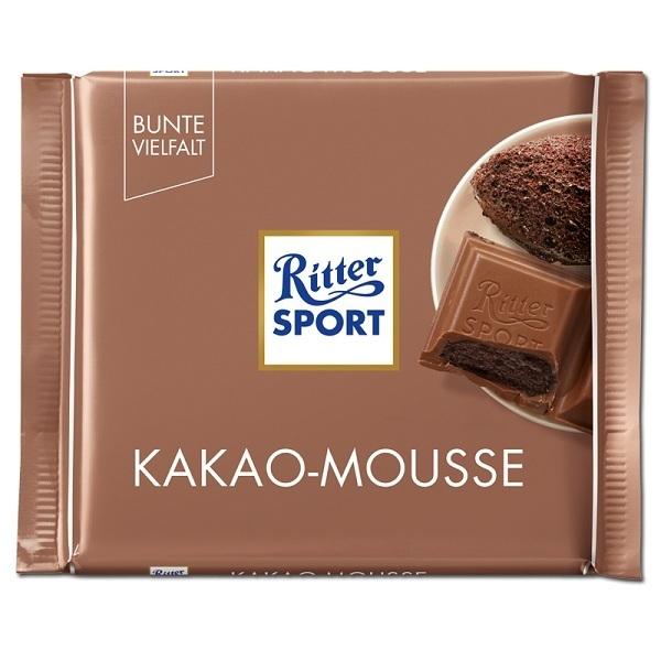 خرید اینترنتی شکلات 100 گرمی Ritter Sport مدل KAKAO MOUSSE شهر شکلات فروشگاه اینترنتی وجیسنک