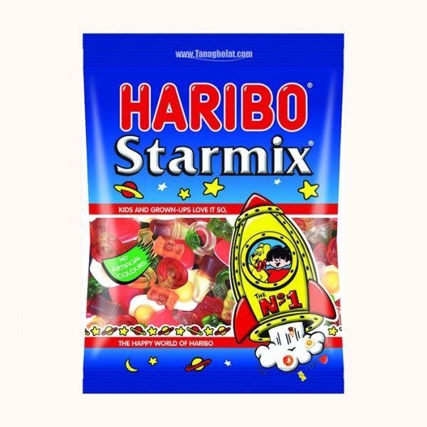 خرید انلاین پاستیل میوه ای استارمیکس 130 گرمی هاریبو فروشگاه اینترنتی وجیسنک پاستیل شکلات قهوه میوه خشک دمنوش HARIBO