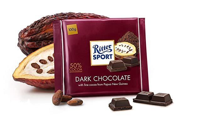 خرید اینترنتی شکلات 100 گرمی Ritter Sport مدل halbbitter شهر شکلات فروشگاه اینترنتی وجیسنک