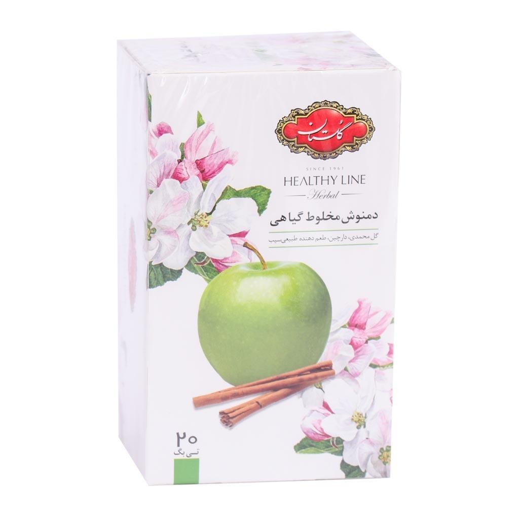 خرید آنلاین دمنوش مخلوط گیاهی با طعم سیب و دارچین گلستان فروشگاه اینترنتی وجیسنک محصولات رژیمی وتناسب گلستان