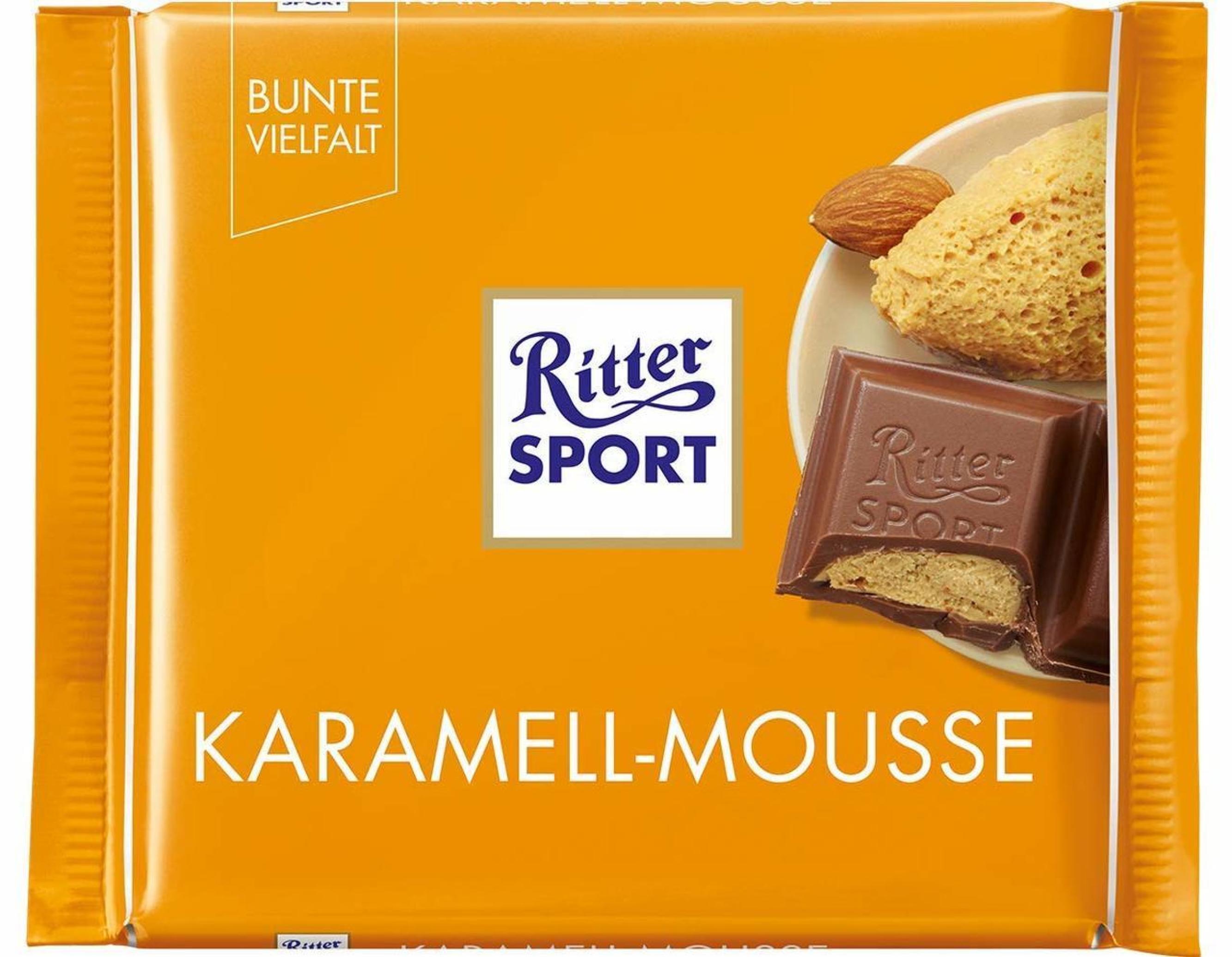 خرید اینترنتی شکلات 100 گرمی Ritter Sport مدل KARAMEL-MOUSSE شهر شکلات فروشگاه اینترنتی وجیسنک