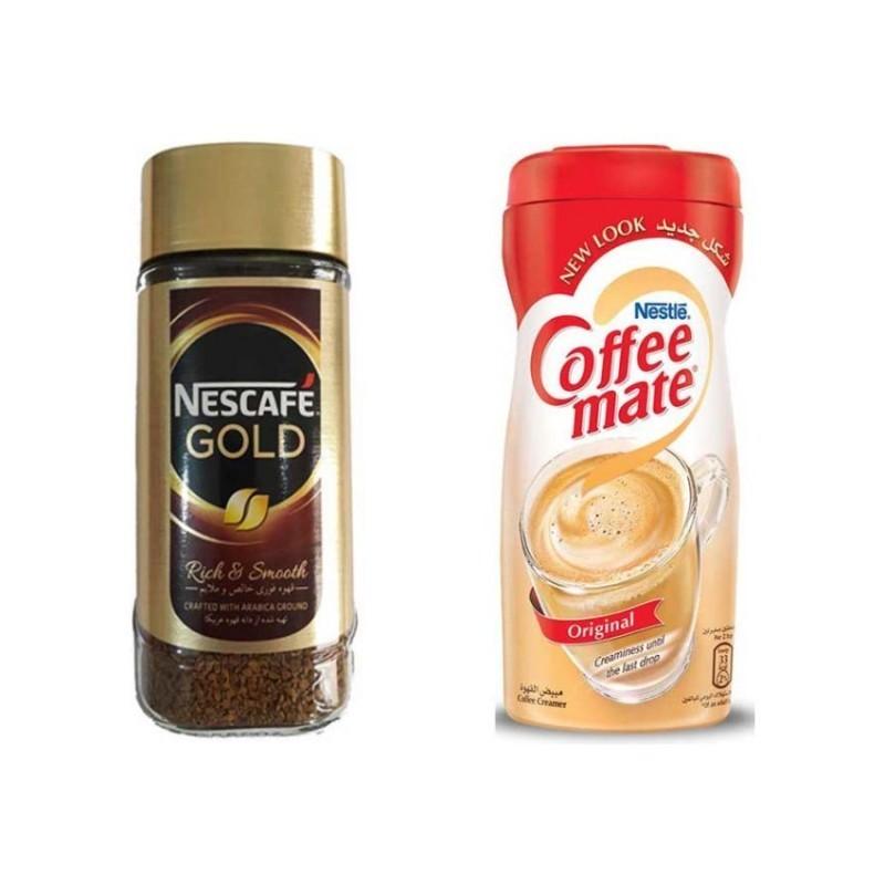 nescafe gold 50 100 200g خرید انلاین قهوه چای نسکافه دمنوش وجیسنک قهوه فوری نسکافه مدل GOLD مقدار 100 گرمی به همراه کافی
