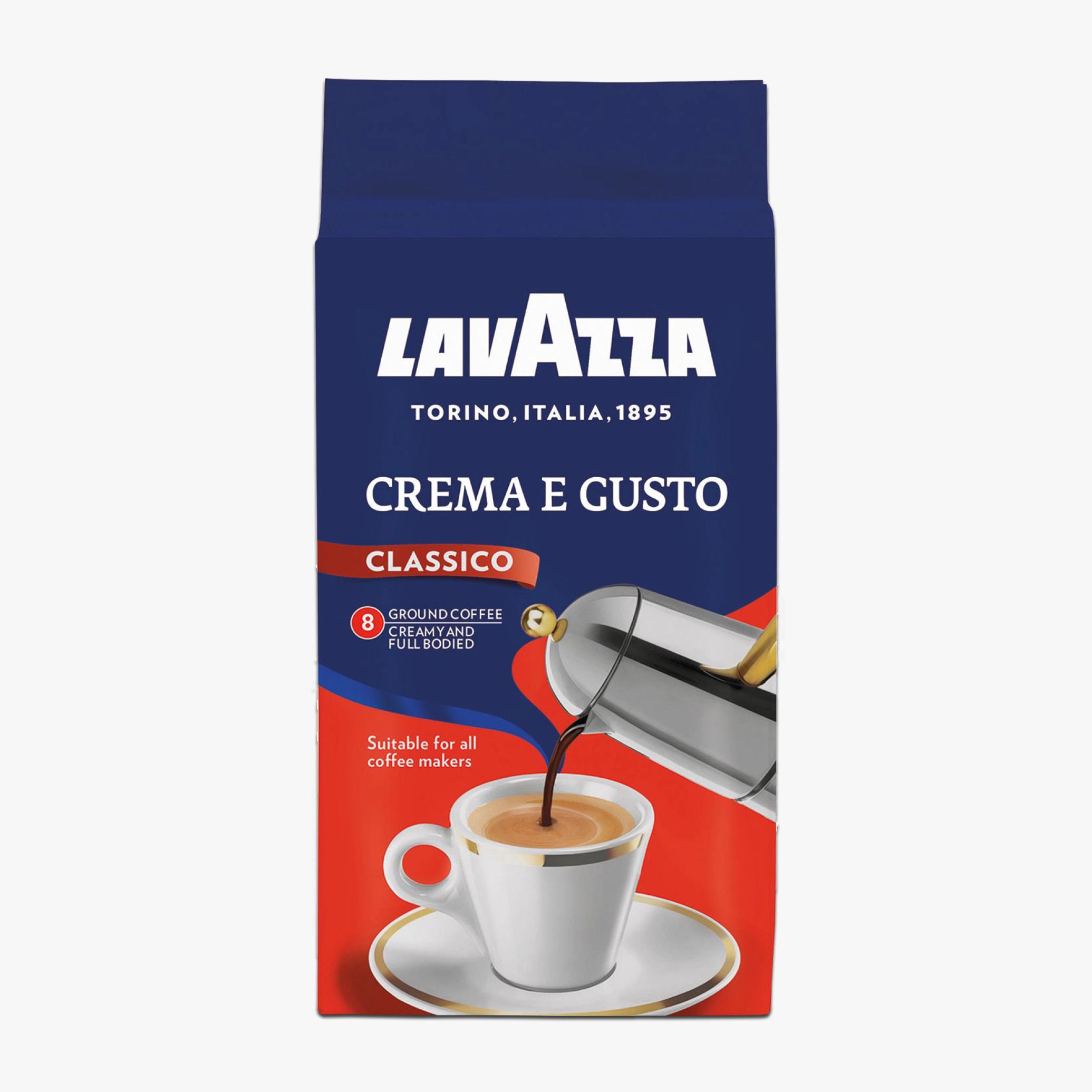 قهوه لاواتزا CREAMA E GUSTO250 گرم خرید اینترنتی از فروشگاه انلاین وجیسنک قهوه دمنوش هات چاکلت