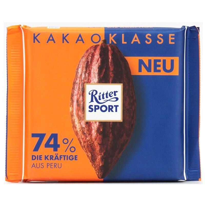 خرید اینترنتی شکلات 74 درصد دارک 100 گرمی Ritter Sport شهر شکلات فروشگاه اینترنتی وجیسنک