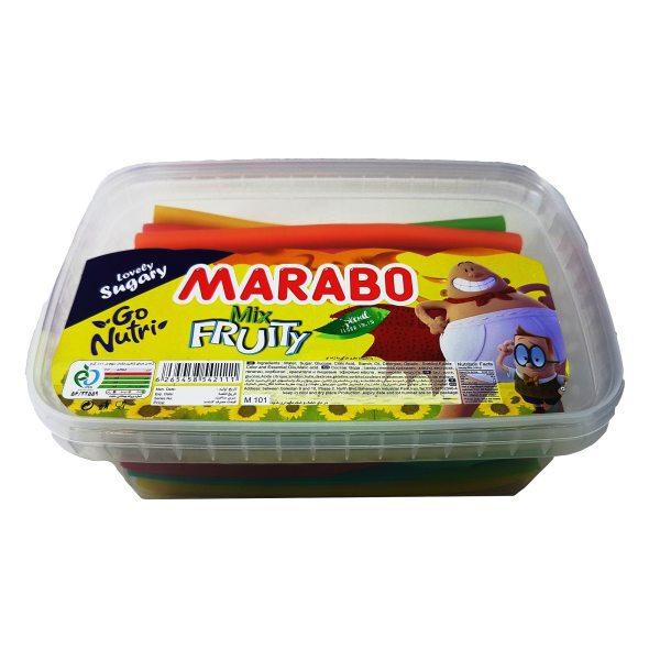 پاستیل مدادی چند میوه مارابو مقدار 900 گرم خرید اینترنتی پاستیل لقمه مارابو marabo فروشگاه اینترنتی وجیسنک پاستیل ش