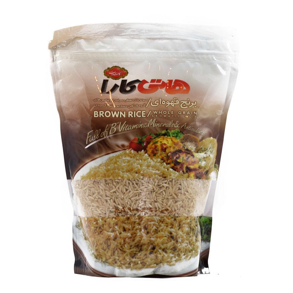 خرید آنلاین برنج قهوه ای هاتی کارا 900 گرمی از فروشگاه اینترنتی عطاری وجیسنک
