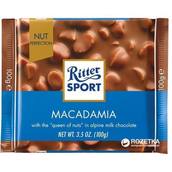 خرید اینترنتی شکلات 100 گرمی Ritter Sport مدل MACADAMIA شهر شکلات فروشگاه اینترنتی وجیسنک