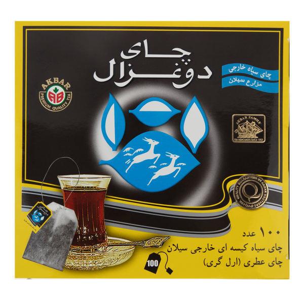 چای کیسه ای دوغزال عطری 100 عددی خرید انلاین وجیسنک خرید اینترنتی دمنوش قهوه اسپرسو چای اصل