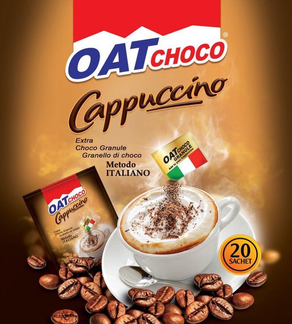 فروش آنلاین پودر کاپوچینو 20 عددی OAT CHOCO در فروشگاه اینترنتی وجیسنک شهر شکلات وجیسنک