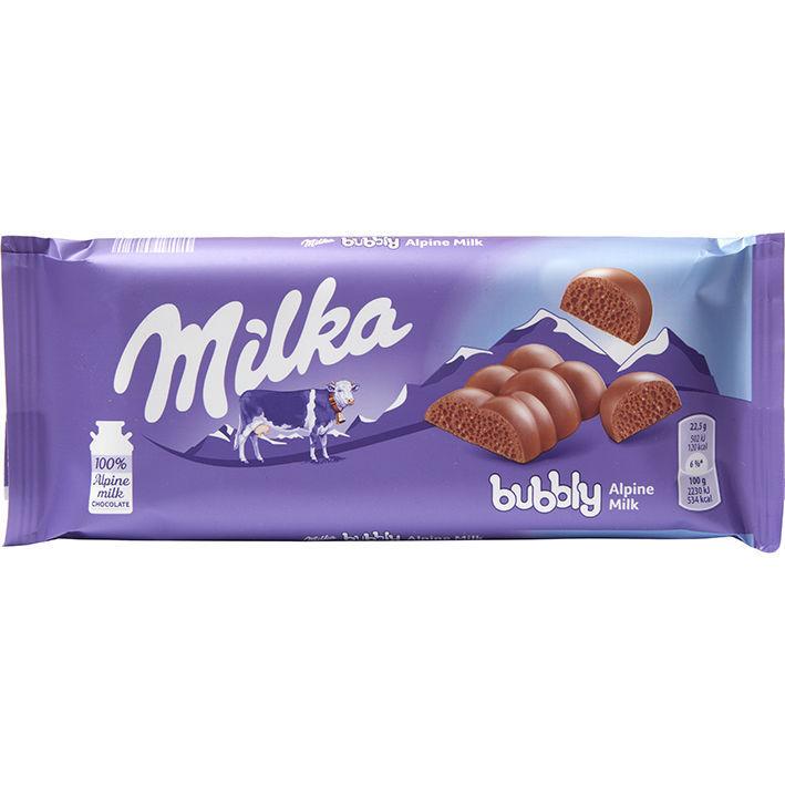 خرید اینترنتی شکلات تابلت شیری مدل حبابی میلکا شهر شکلات فروشگاه اینترنتی وجیسنک milka