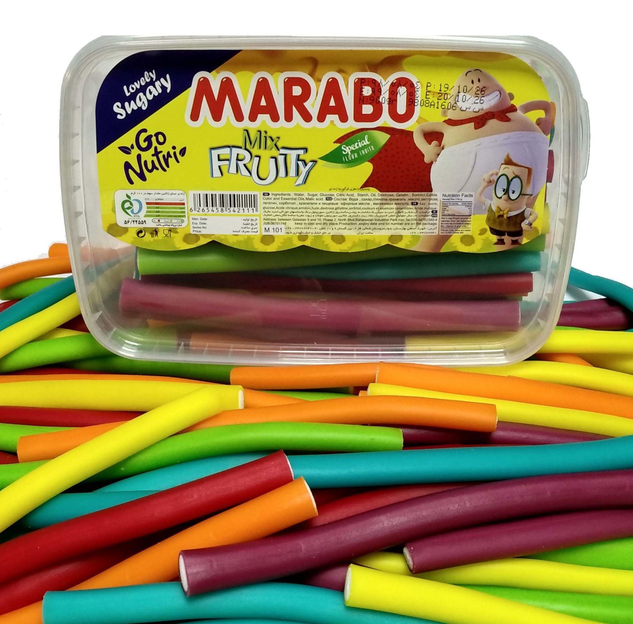 خرید انلاین پاستیل مدادی لوله ای براق بدون شکر marabo فروشگاه اینترنتی وجیسنک پاستیل شکلات قهوه میوه خشک دمنوش قافلانکوه
