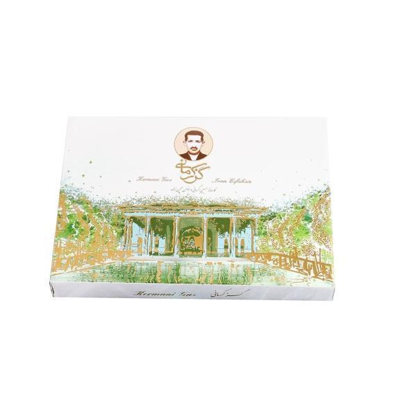 خرید اینترنتی گز لقمه فوق ویژه 330 گرم فوق پسنه درصد مخلوط کرمانی ممتاز فروشگاه وجی اسنک وجیسنک