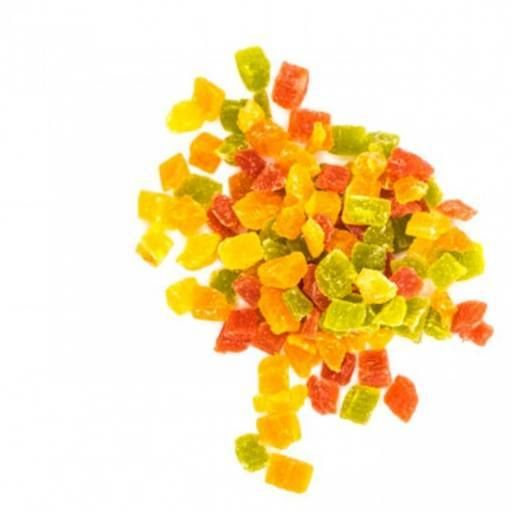 میوه خشک اناناس حبه 4 رنگ وجیسنک خرید انلاین اناناس حبه ای رنگی خرید اینترنتی فروشگاه اینترنتی عمده و خرده فروشی