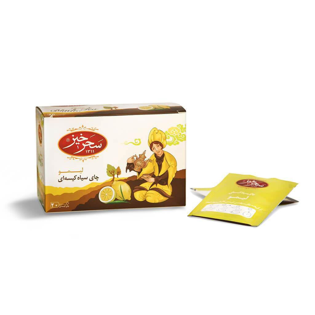 خرید انلاین قهوه و چای از فروشگاه اینترنتی وجیسنک خرید انلاین محصولات سحر خیز چای سیاه لیمویی کیسه ای