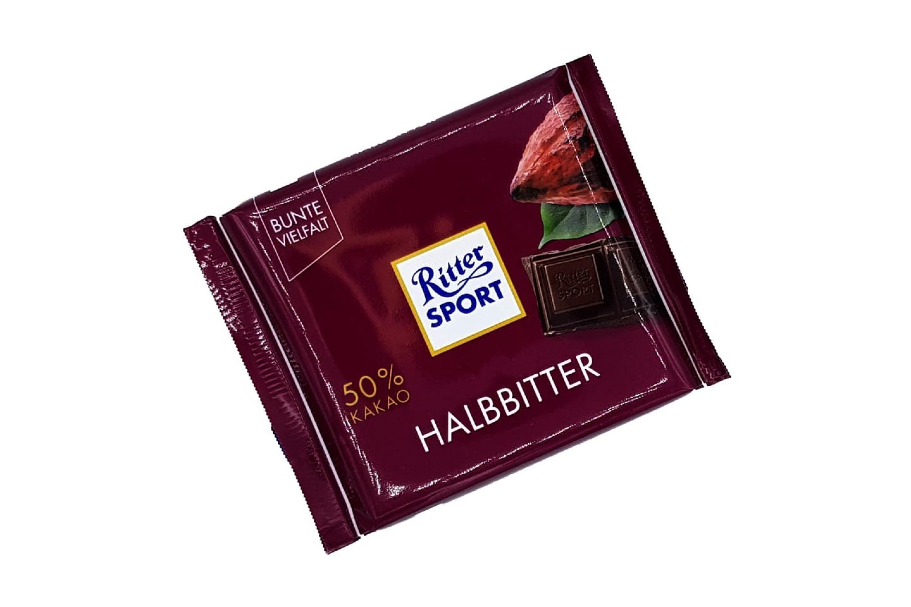 خرید اینترنتی شکلات 50 درصد دارک 100 گرمی Ritter Sport شهر شکلات فروشگاه اینترنتی وجیسنک
