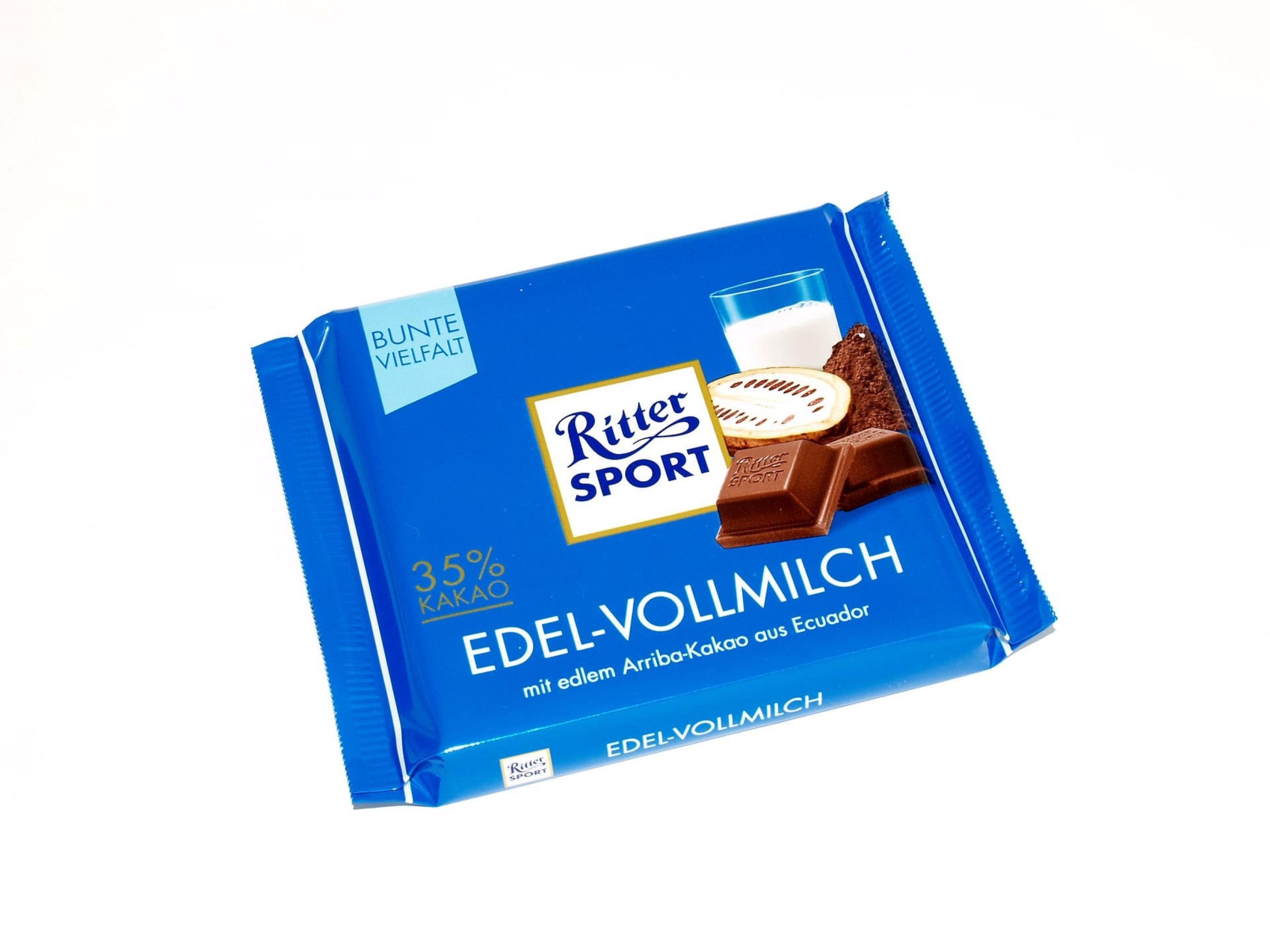 خرید اینترنتی شکلات شیری 100 گرمی Ritter Sport شهر شکلات فروشگاه اینترنتی وجیسنک