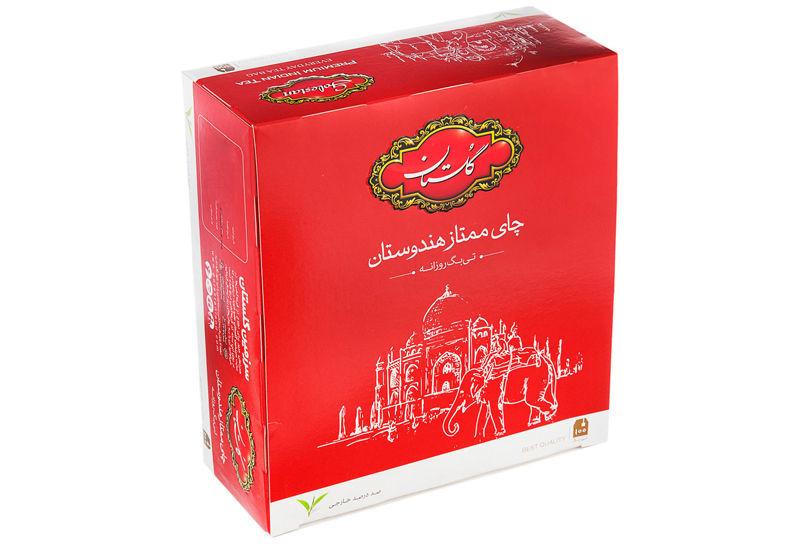 چای کیسه ای گلستان ساده 100 عددی خرید انلاین وجیسنک چای خارجی و ایرانی عمده به قیمت بازار تهران ارسال رایگان