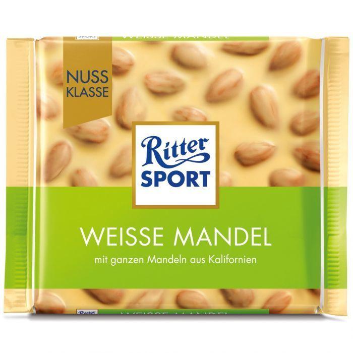 خرید اینترنتی شکلات 100 گرمی Ritter Sport مدل WEISSE MANDEL شهر شکلات فروشگاه اینترنتی وجیسنک