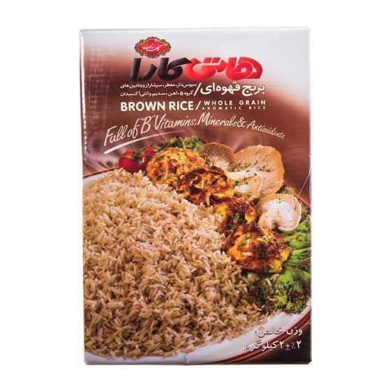 خرید آنلاین برنج قهوه ای هاتی کارا 2000 گرمی از فروشگاه اینترنتی عطاری وجیسنک