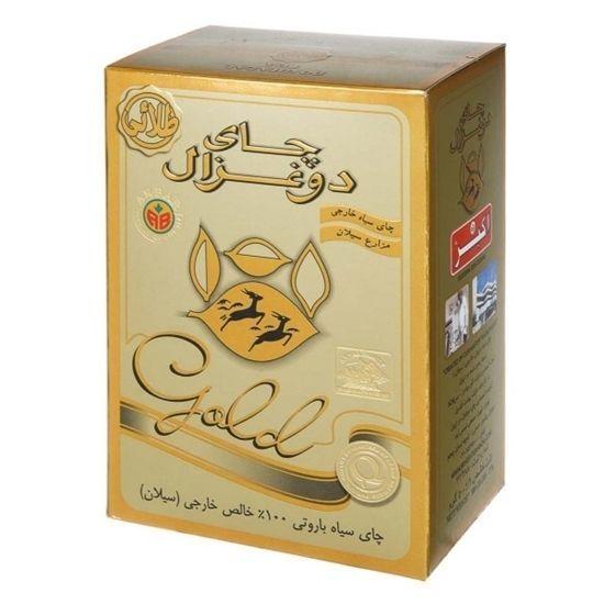چای سیاه باروتی دوغزال طلایی 500 گرمی خرید انلاین وجیسنک ساده خرید اینترنتی چای دمنوش میوه خشک شکلات داغ