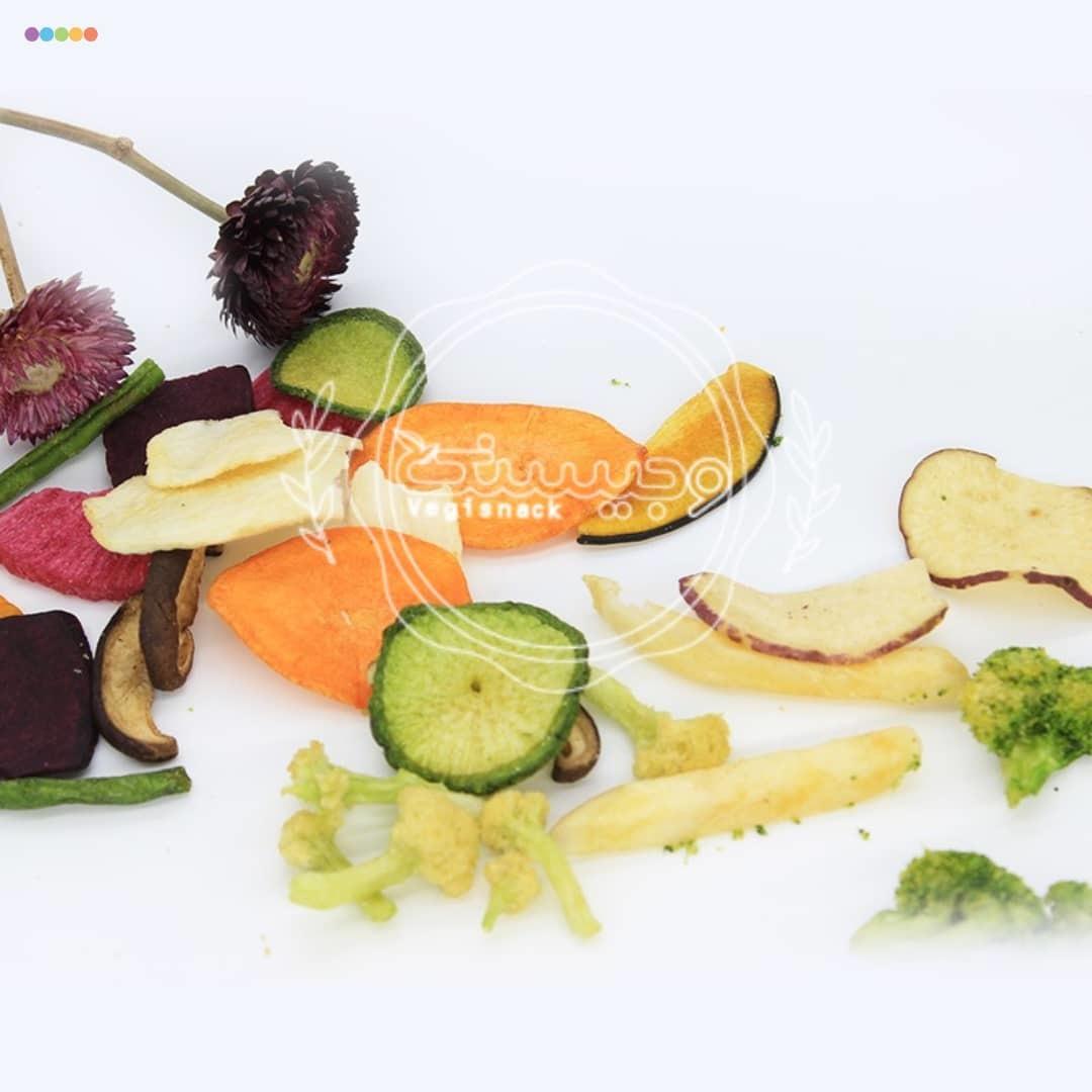 چیپس سبزیجات خشک وجیسنک خرید انلاین خرید و فروش عمده تضمینی چیپس میوه و خشکبار میوه خشک
