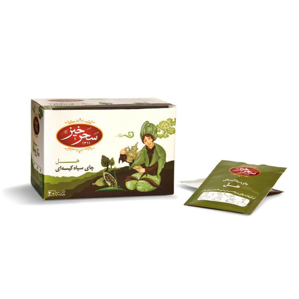 خرید اینترنتی محصولات سحرخیز چای سیاه کیسه ای هل چای سیاه کیسهای هل سحرخیز بسته 20 عددی فروش اینترنتی زیر قیمت بازار