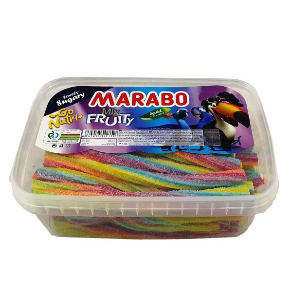 پاستیل پیچشی شکری میوه ای ترش مارابو - 900 گرم خرید اینترنتی پاستیل لقمه مارابو marabo فروشگاه اینترنتی وجیسنک پاستیل ش
