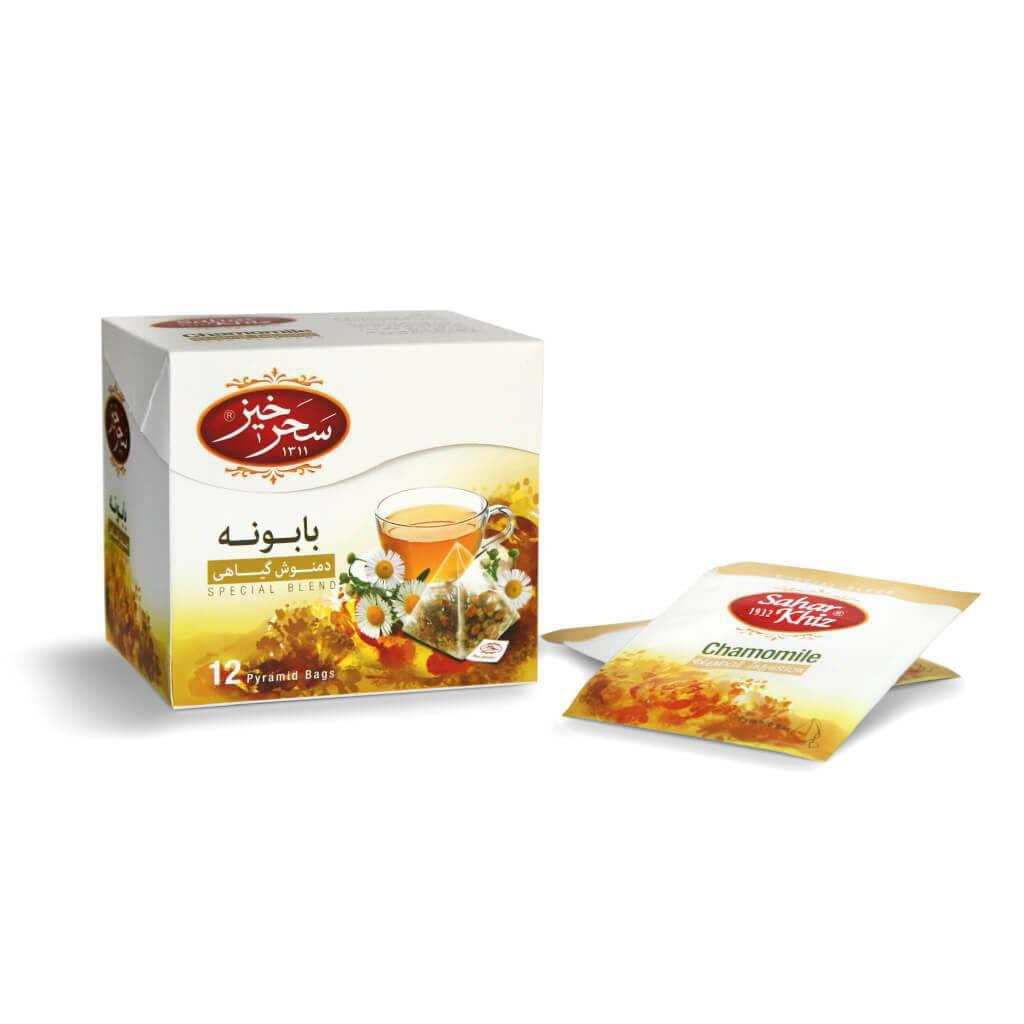 دمنوش بابونه سحرخیز بسته 12 عددی خشکبار وجیسنک خرید اینترنتی دمنوش سحرخیز چای فروش عمده محصولات زیر قیمت بازار