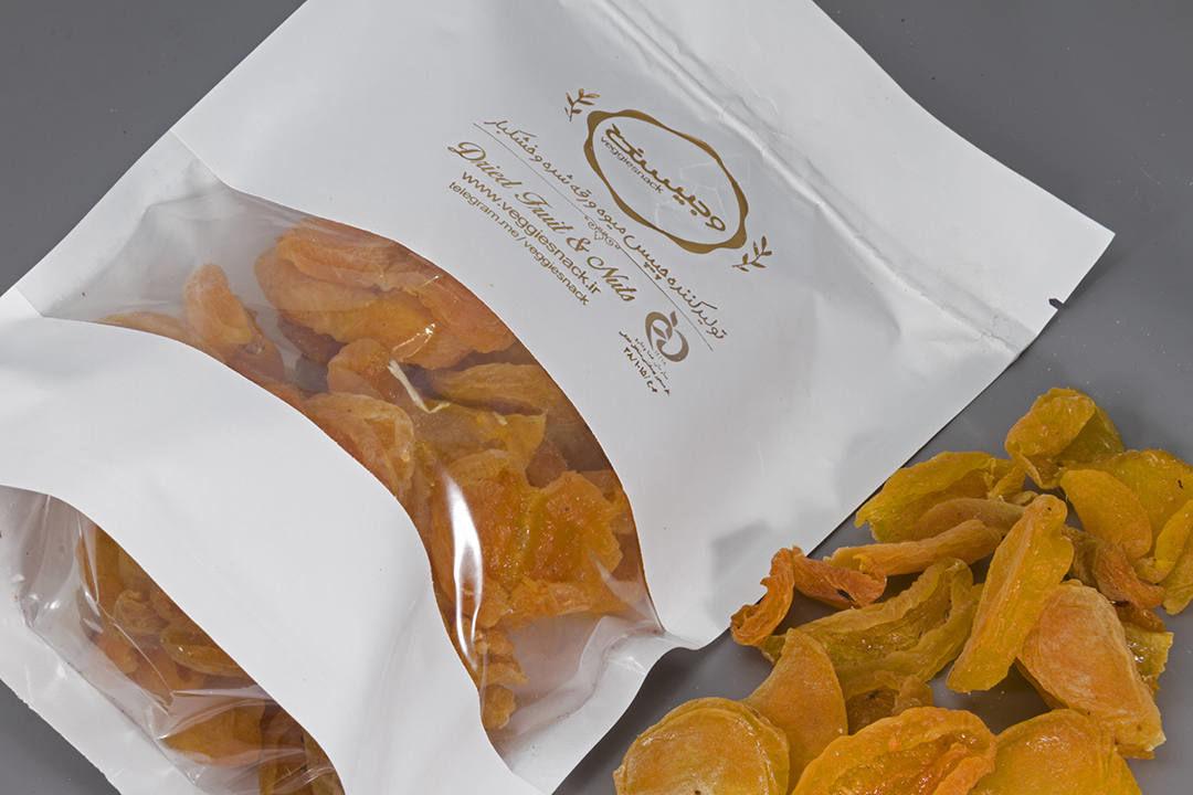 چیپس میوه خشک زردالو وجیسنک خرید انلاین زردآلو خشک وجیسنک فروشگاه اینترنتی زردالو قیسی قیصی زیر قیمت بازار تهران فروش